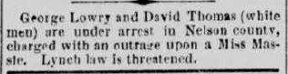 Image of newspaper article from the Richmond Daily Dispatch