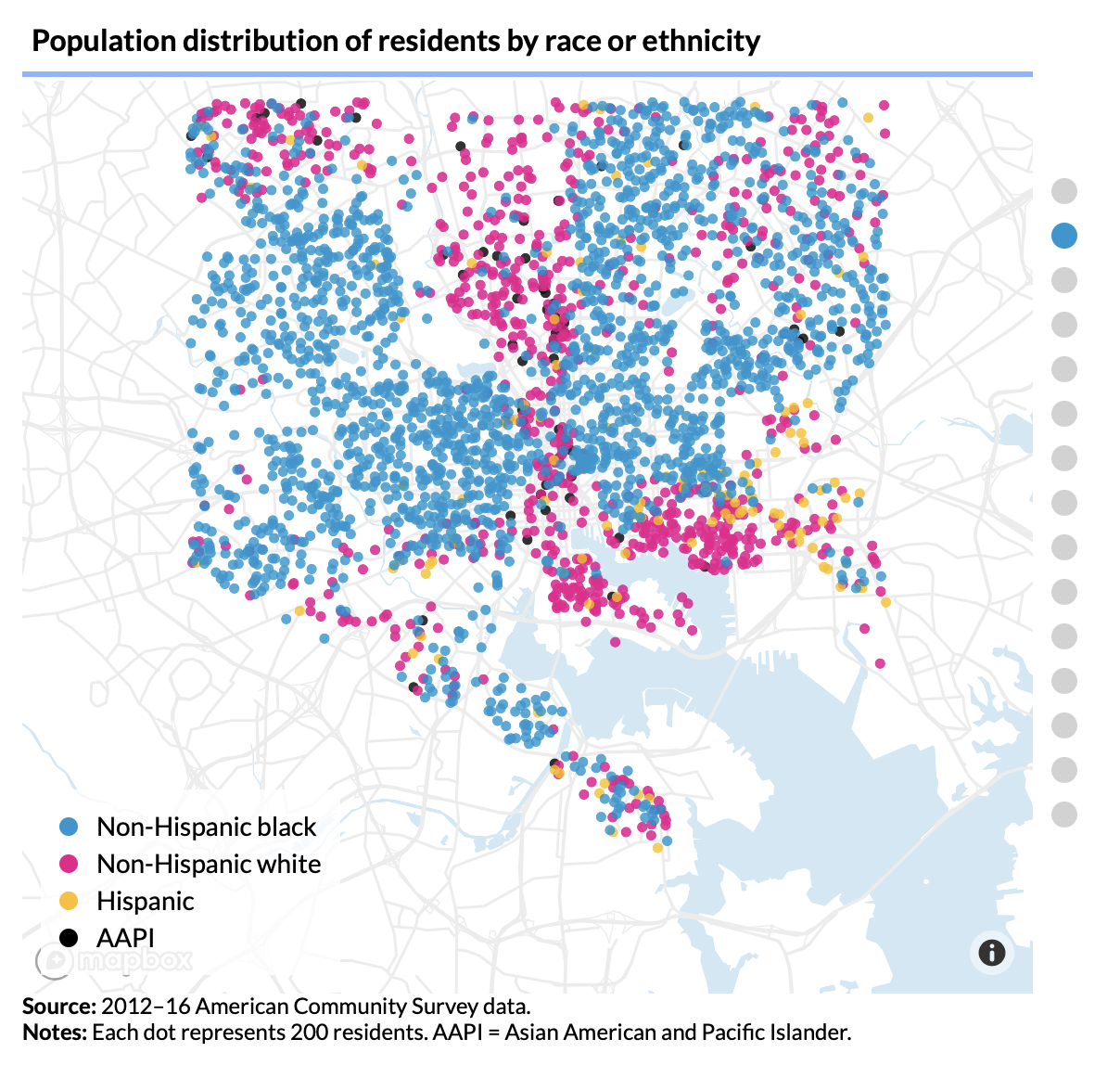 The so-called Black Butterfly Map of Baltimore Image from Urban Institute
